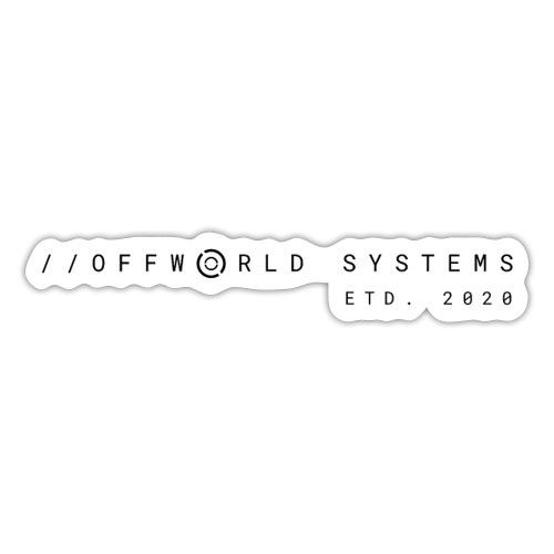 Offworld Systems Offical in Black - Sticker