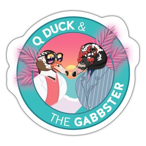 Q and Gabbs - Miami Vice Ducks - Sticker