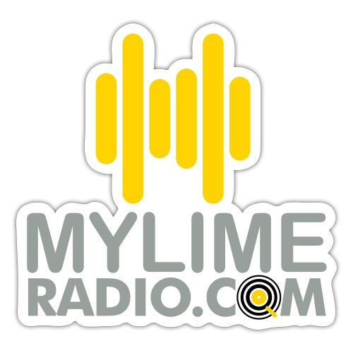 MyLimeRadio Main LOGO (Tri Colour) - Sticker