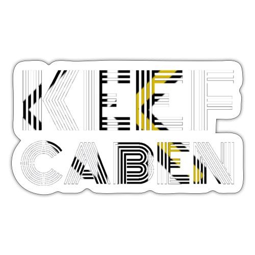 Keef Caben Remix EP Design WHT - Sticker
