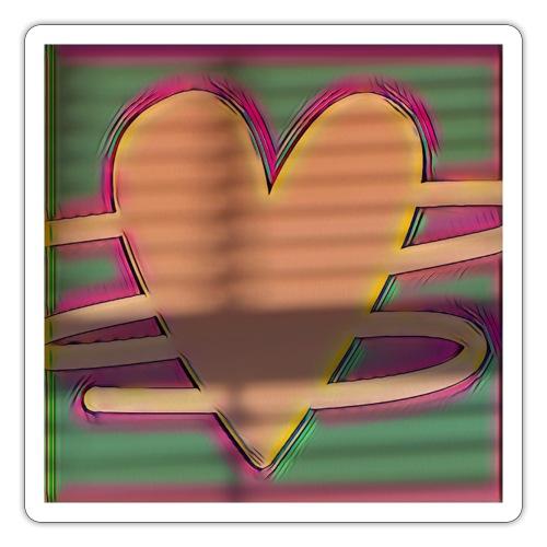 Heart sticker - Sticker