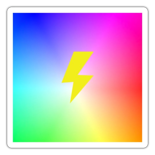 Rainbow lightning t-shirt - Sticker