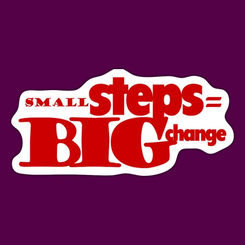 small steps red - Sticker
