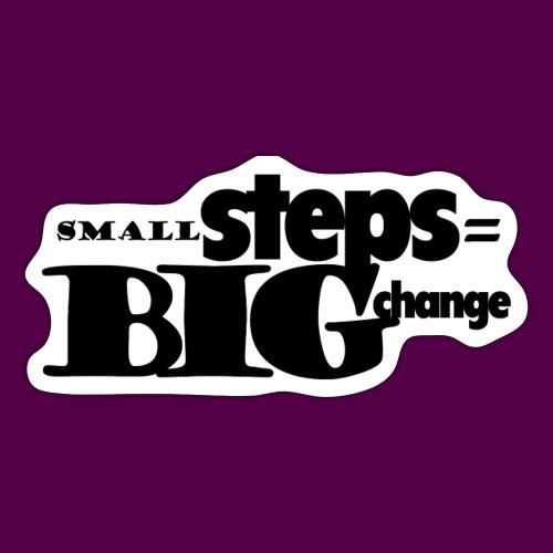 small steps black - Sticker