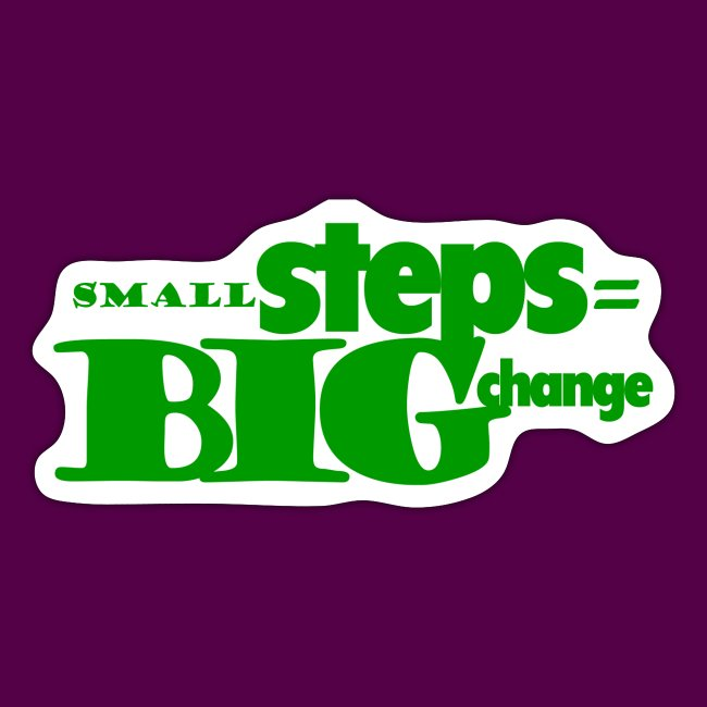 small steps green