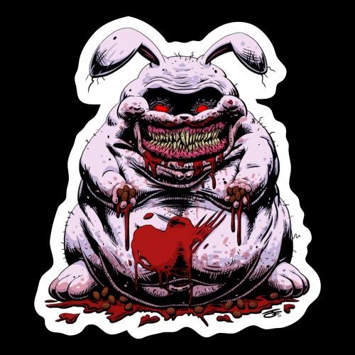 Cute Creepy Bunny Buddy - Sticker