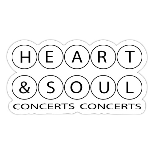 Heart & Soul Concerts - text horizon (no fill) - Sticker
