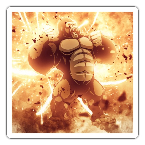 Angry Gorilla Explosion - Sticker
