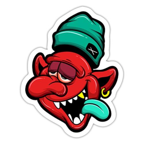 evil tipsy cartoon - Sticker