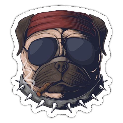 Dog head smoke - Sticker