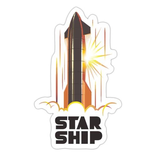 Star Ship Mars - Light - Sticker