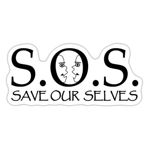 SOS Black on Black - Sticker