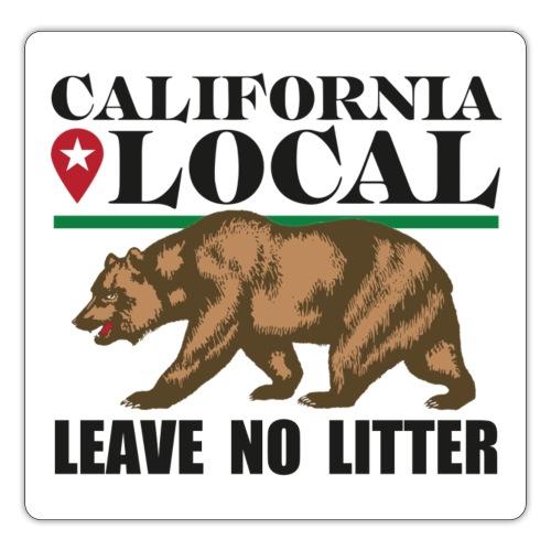 California Local Leave No Litter Sticker - Sticker