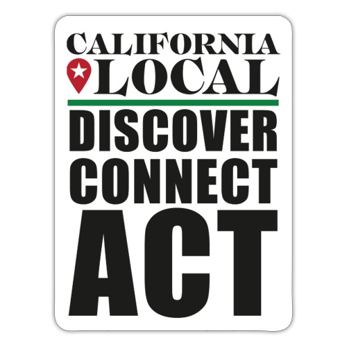 California Local Discover Connect Act Sticker - Sticker