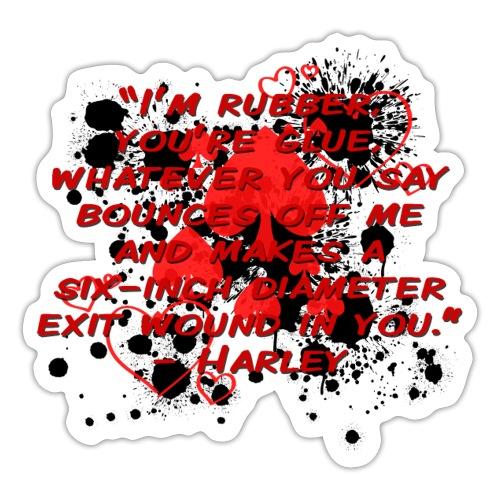 Crazy Joker Girl - Sticker
