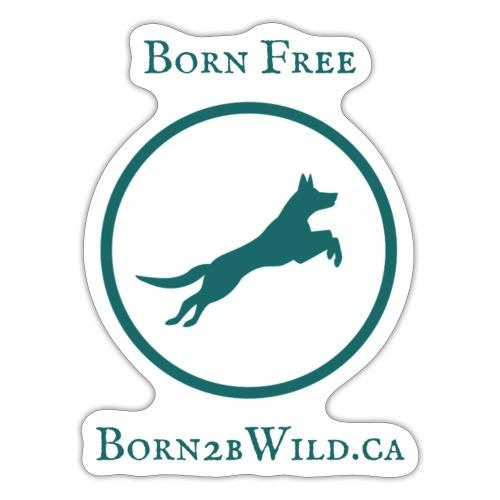 Born 2B Wild Full Logo - Sticker