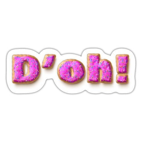 Homer Simpson D'oh! - Sticker