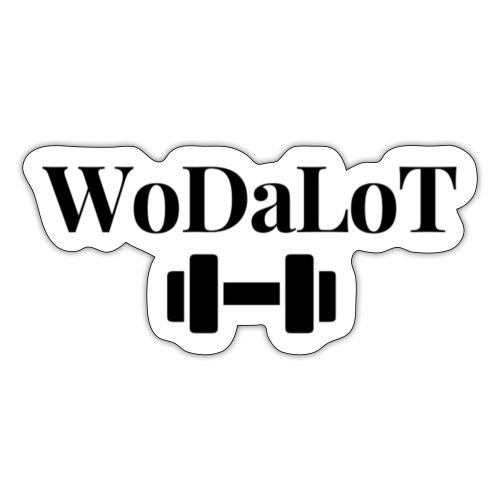 WoDaLoT black logo - Sticker