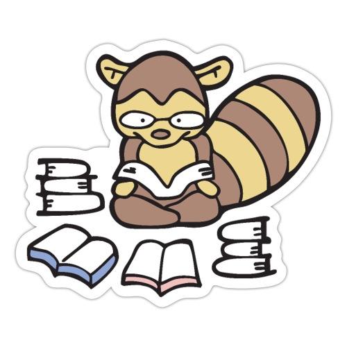 Reading Raccoon - Sticker