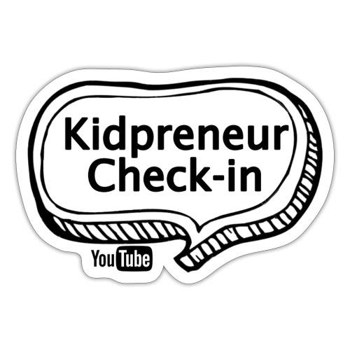 Kidpreneur Check-In Logo - Sticker