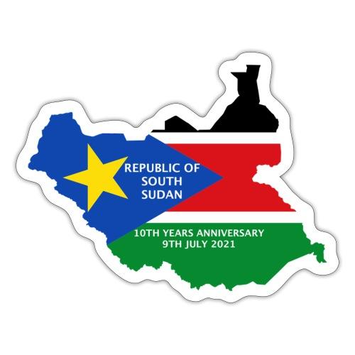 south sudan 10th years anniversary - Sticker