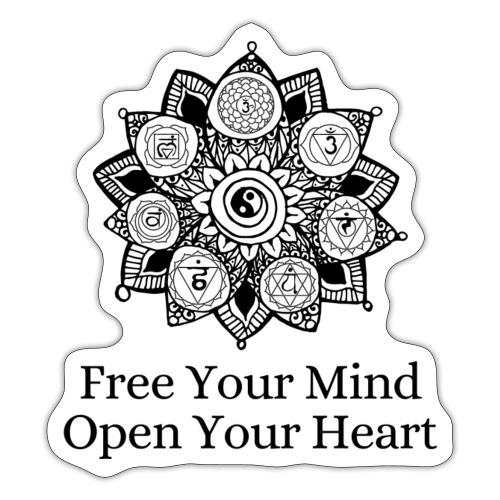 Free Mind, Open Heart - Sticker
