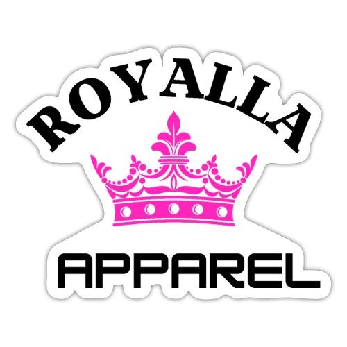 Royalla Apparel Black with Pink Logo - Sticker