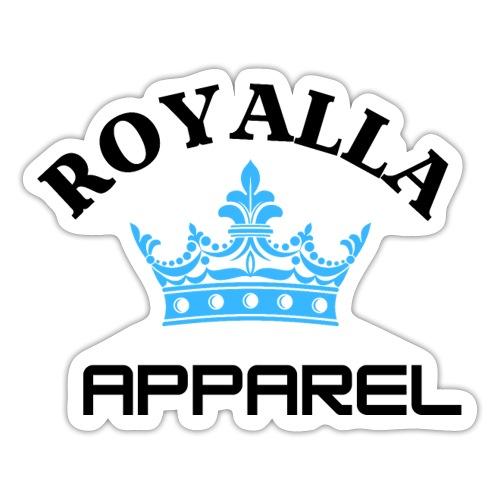 Royalla Apparel LogoBlack with Blue Words - Sticker