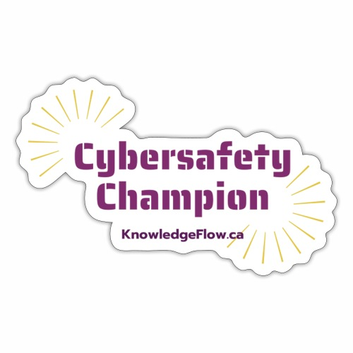 Cybersafety Champion - Sticker