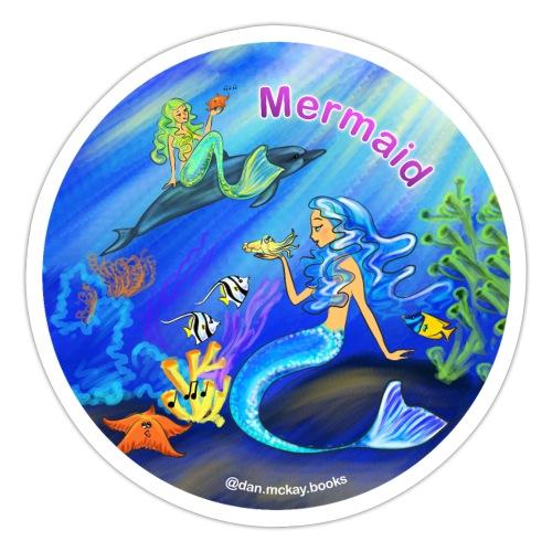 Mermaid print - Sticker