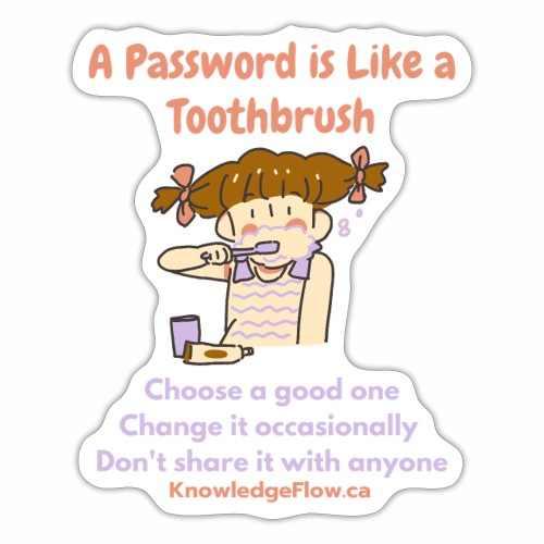 A Password is Like a Toothbrush...(1) - Sticker