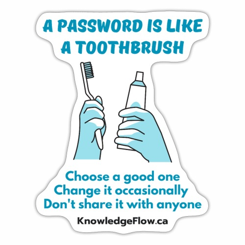 A Password is Like a Toothbrush...(2) - Sticker