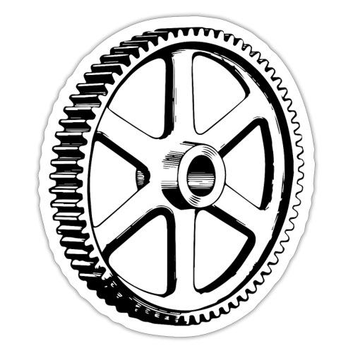 Big Gear Wheel - Vintage Illustration - Sticker