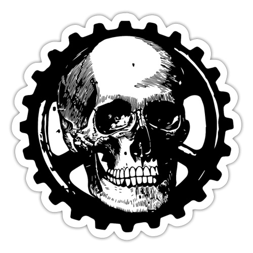 Gear Head Skull - Sticker
