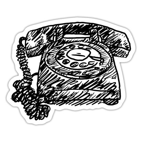 Vintage Telephone - Hot Line - Sticker