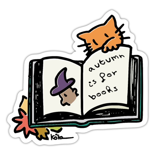 Autumn is for Books - Sticker