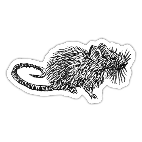 Quiet as a Mouse - Sticker