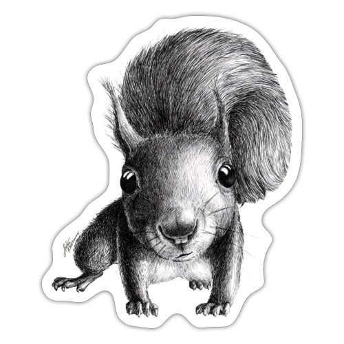 Cute Curious Squirrel - Sticker
