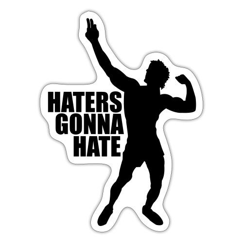 Zyzz Silhouette Haters Gonna Hate - Sticker