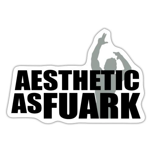 Zyzz Aesthetic as FUARK - Sticker