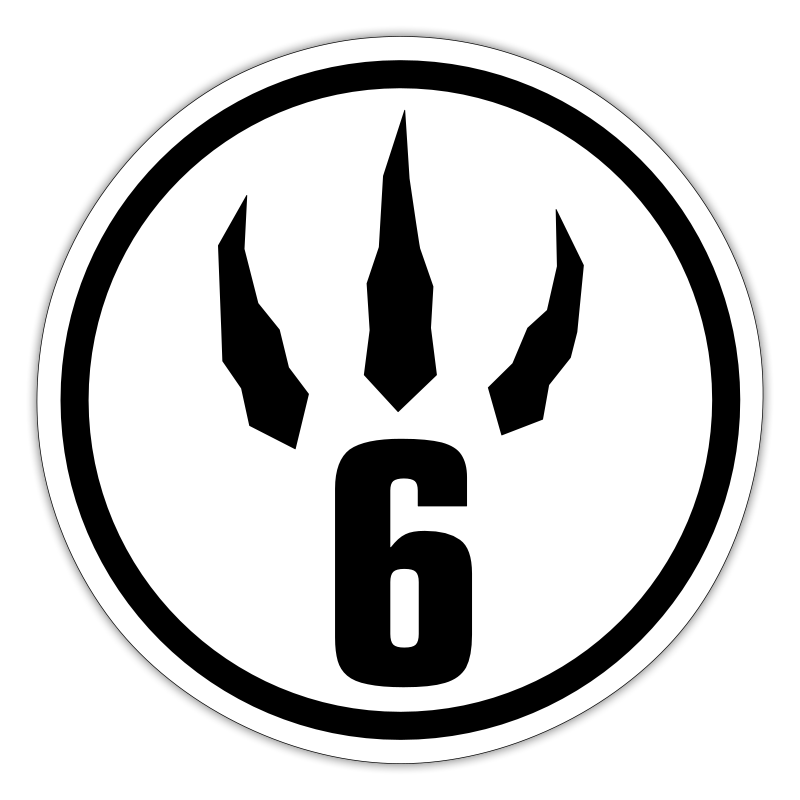 6 Claw - Sticker