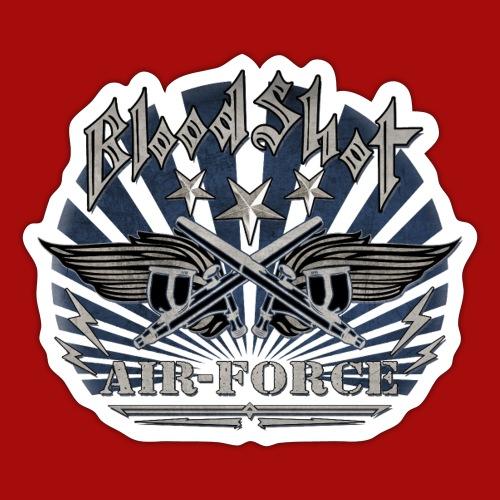 BloodShot Air Force with black - Sticker