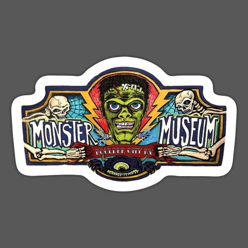 Monster Museum Entrance Sign - Sticker