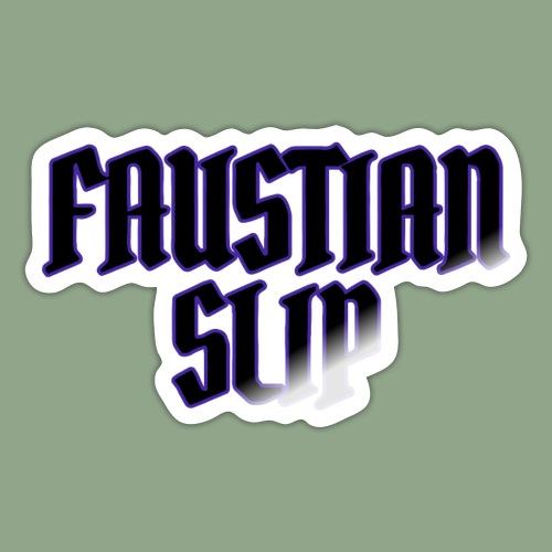 Faustian Slip Logo - Sticker