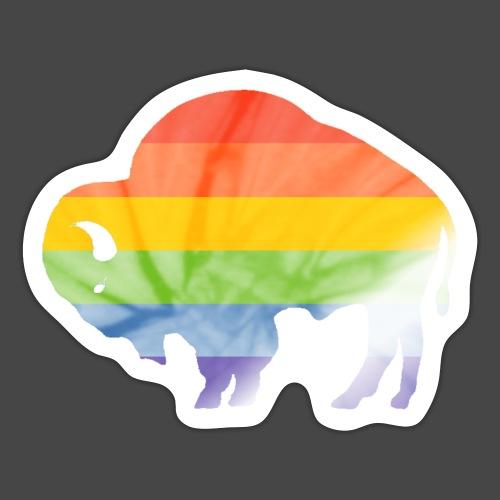 Buffalo Pride Outline - Sticker