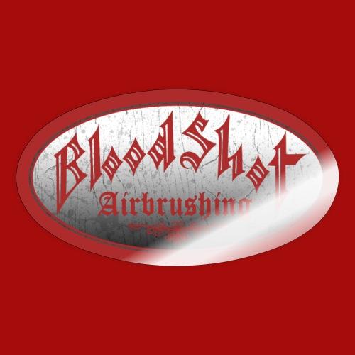 BloodShot Airbrushing Logo - Sticker