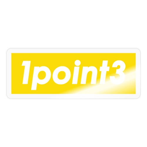 1point3 yellow - Sticker
