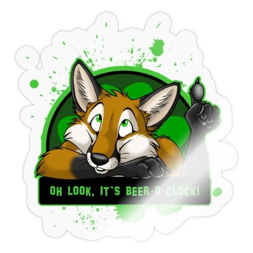 Beer-o-Clock Fox - Sticker