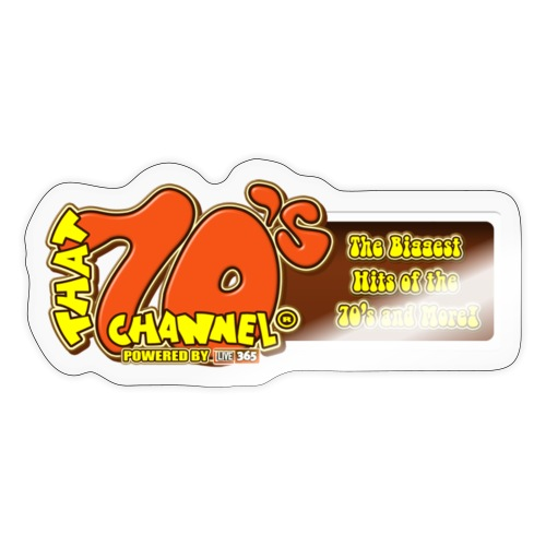 70s channel 2 powered by 365 official flag - Sticker
