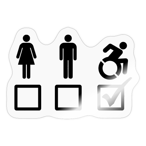A wheelchair user is also suitable - Sticker